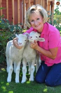 Marlene with her sheep